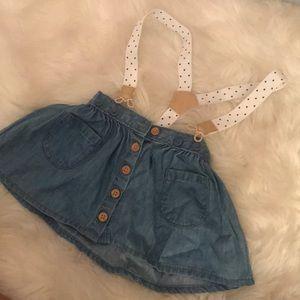 Osh kosh b gosh skirt and overalls
